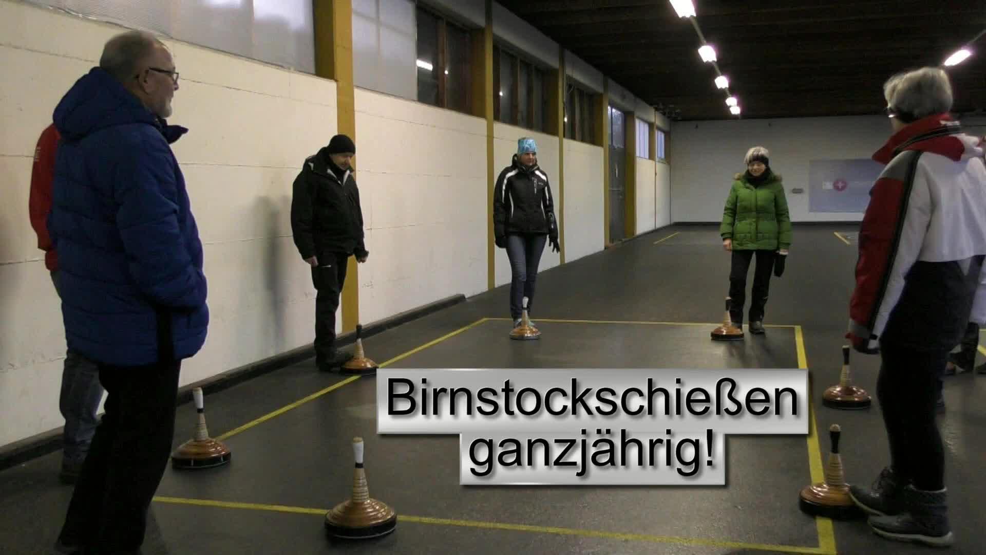 Birnstockschießen ganzjährig in Schweinbach!