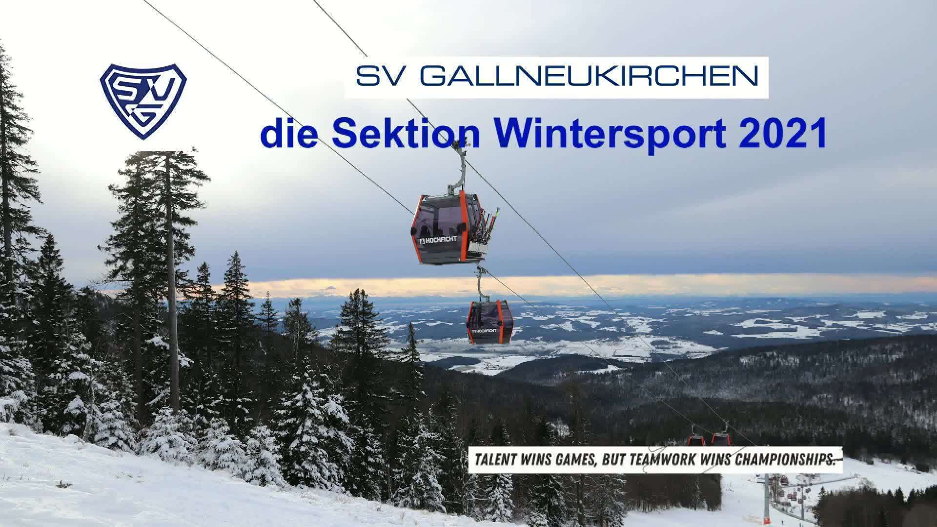 Die SVG Sektion Wintersport 2021