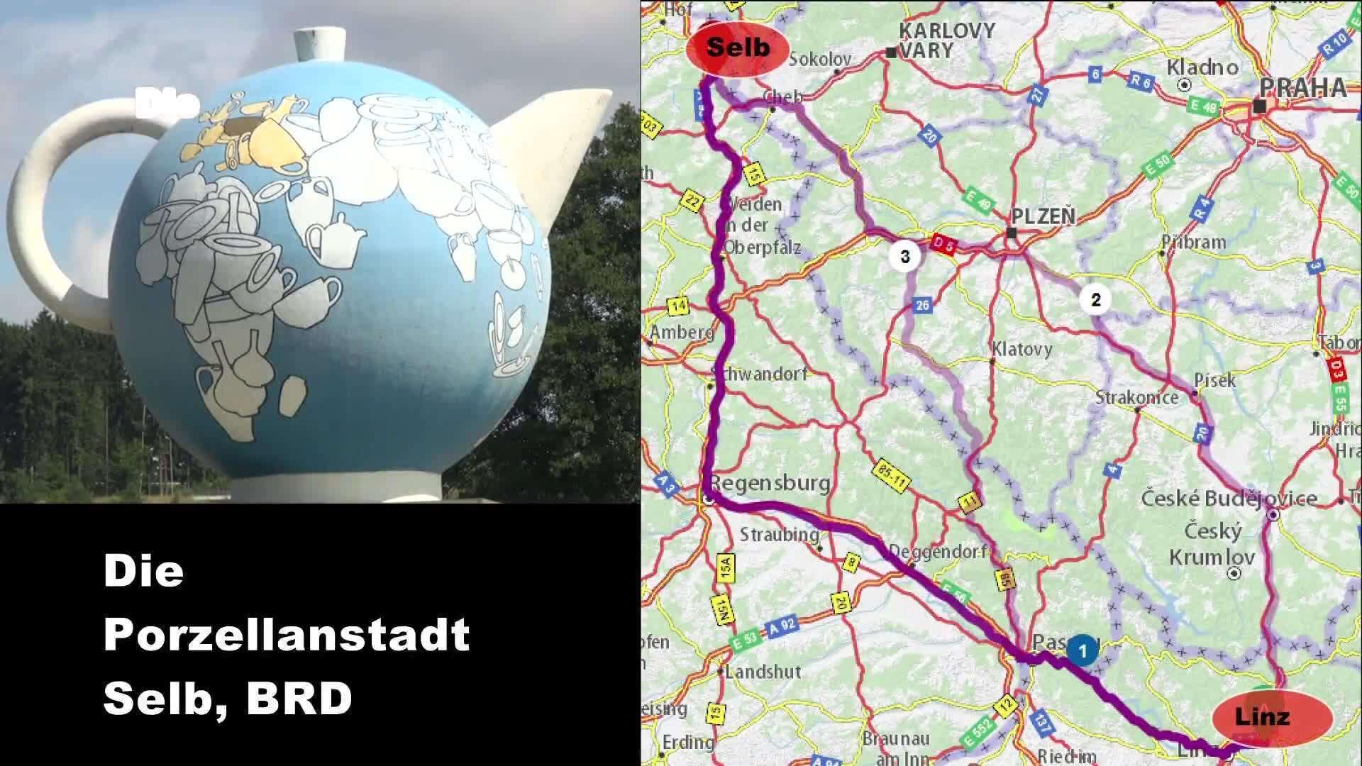 Die Porzellanstadt Selb in Deutschland