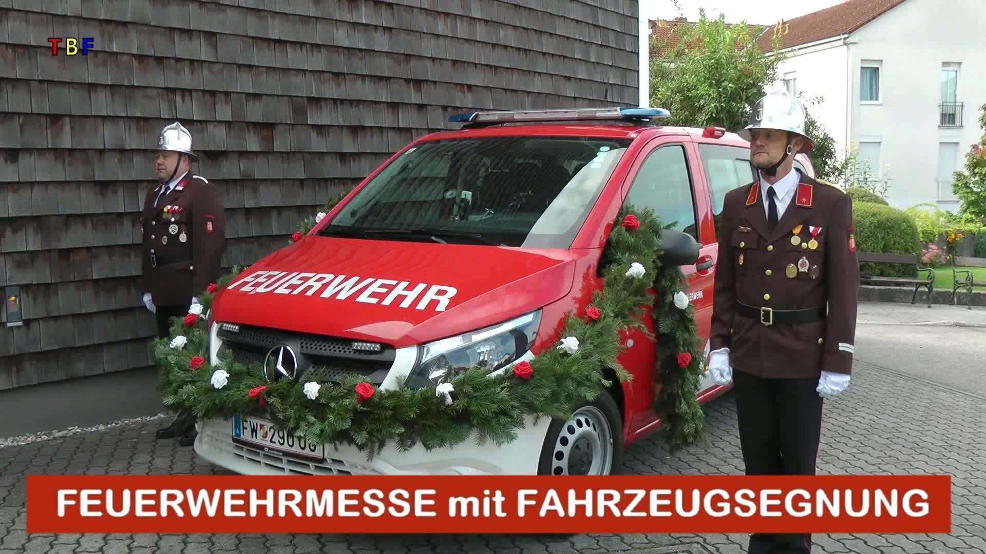 Feuerwehrmesse mit Fahrzeugsegnung
