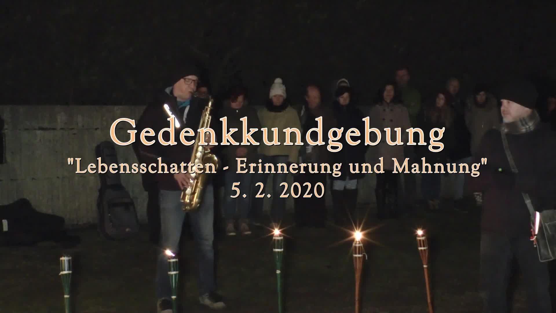 Gedenkkundgebung 2020