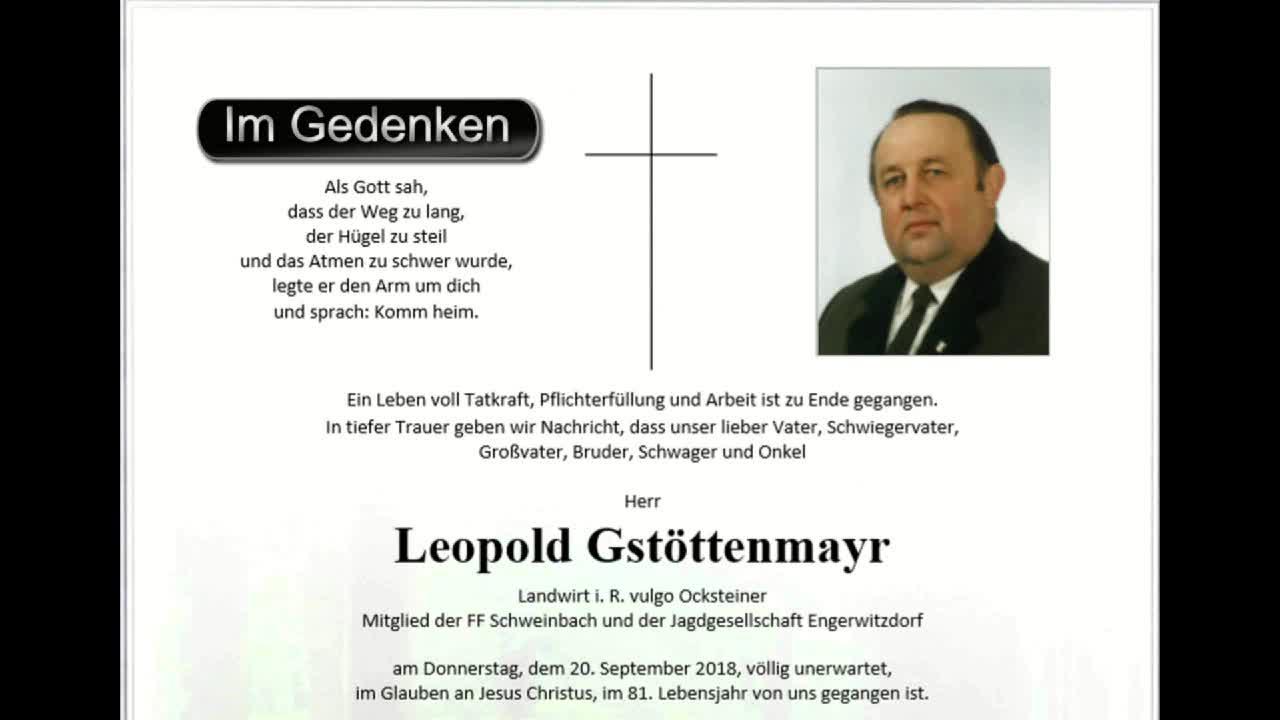 Im Gedenken - Leopold Gstöttenmayr