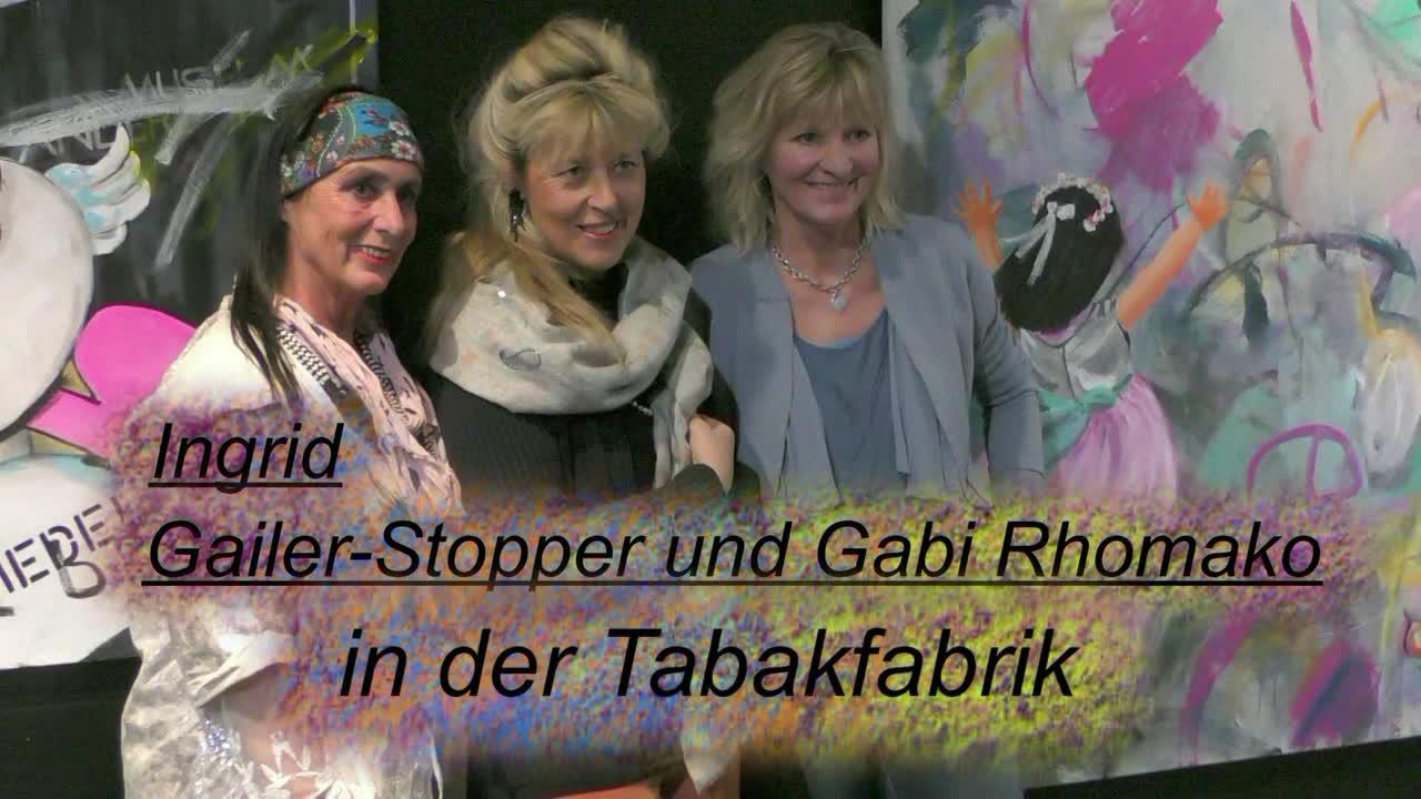 Ingrid Gailer-Stopper & Gabi Rhomako in der Tabakfabrik