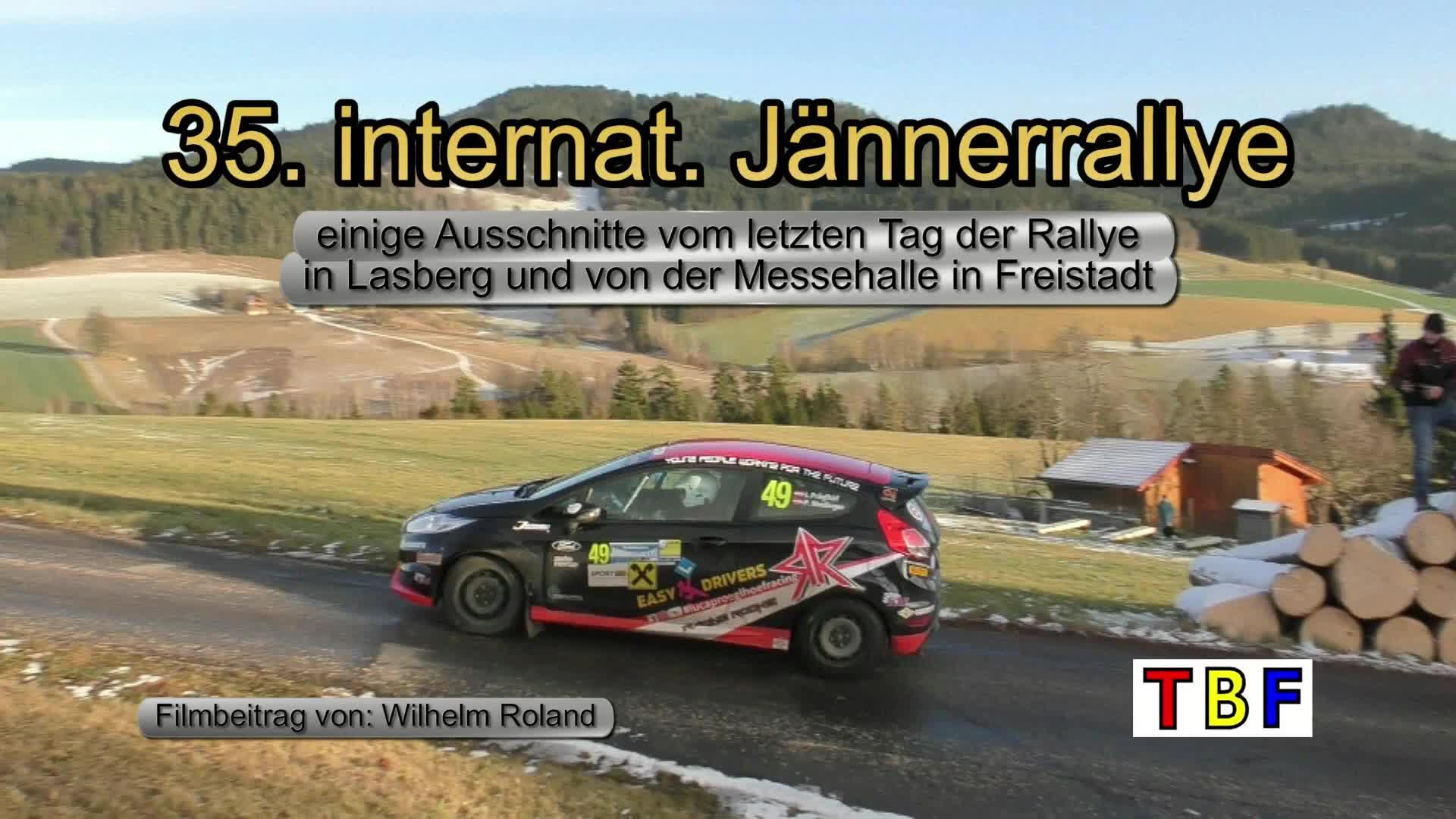 Jaennerrallye 2020 Auschschnitte von Lasberg und dem Messezentrum Freistadt