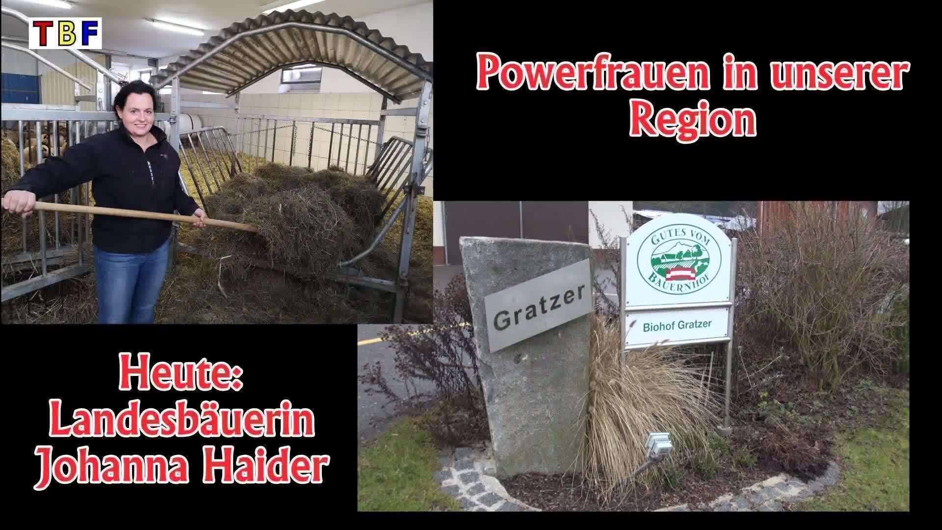 Powerfrauen in unserer Region / Landesbäuerin Johanna Haider